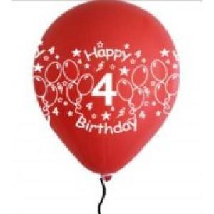 Happy 4th Birthday Balloons Girl Shades (5)