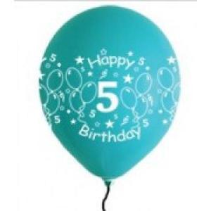 Happy 5th Birthday Balloons Boy Shades (5)