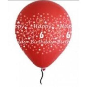 Happy 6th Birthday Balloons  Boy Shades (5)