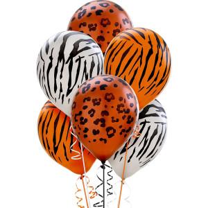 Animal Prints Latex Balloons assorted (5)