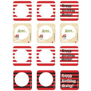 Arrr Pirate Party - Cupcake Toppers (12)