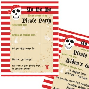 Arrr Pirate Party - Invitations (8)