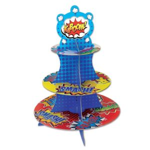 Super Hero Comic Cupcake Stand