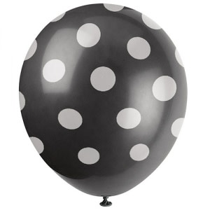 Black Dotted Balloons (5)