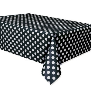 Black Dotted Table Cover