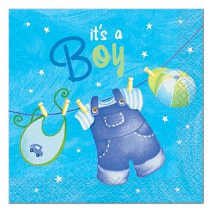 Blue Clothesline Beverage Napkins (16)
