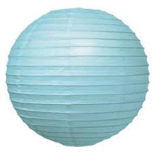 Light Blue Wired Lantern 25cm