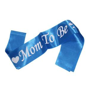 Mom to Be Sash Blue with White