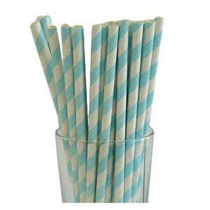 Light Blue Party Straws (25)