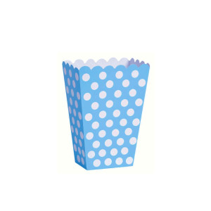 Blue Dotted Popcorn boxes Small (6)