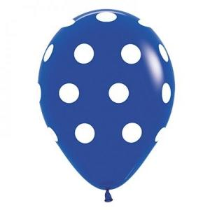 Royal Blue Dotted Balloons (5)