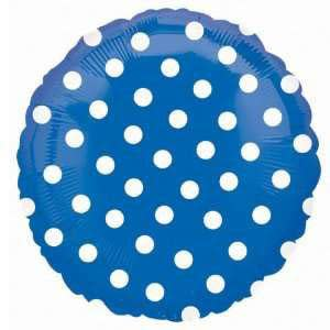 Royal Blue Dotted Foil Balloon
