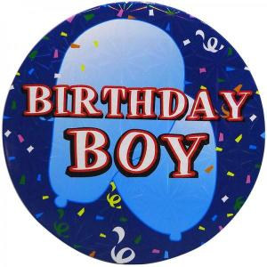 Large Birthday Boy Badge