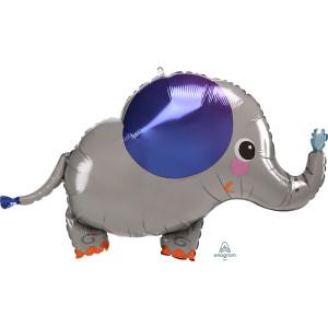 Sweet Baby Elephant Supershape Balloon 34 Inch