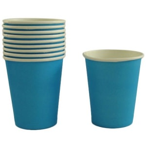 Sky Blue Paper Cups 10