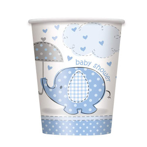 Blue Umbrellaphant Paper Cups (8)
