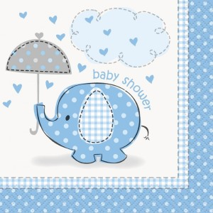 Blue Umbrellaphant Lunch Napkins (16)