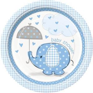 Blue Umbrellaphant Paper Plates (8)