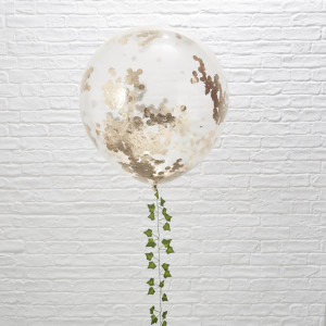 Beautiful Botanics Huge Rose Gold Confetti Balloons (3)