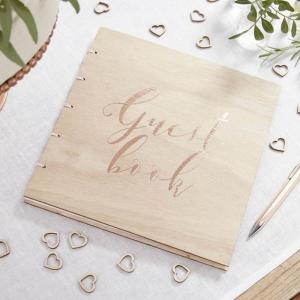 Beautiful Botanics Rose Gold Guest Book