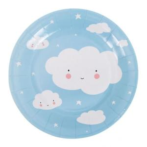 Cloud Design Paper Plates (10)