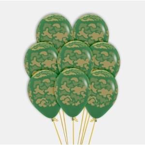 Camouflage Print Latex Balloons (5)