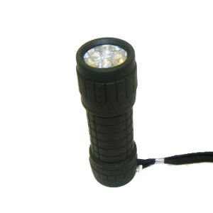 Rubber LED Torch-each
