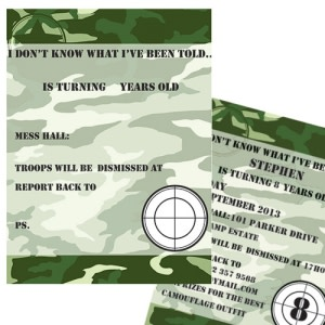 Camo Party - Invitations (Pack of 8)