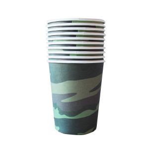 Camo Military Paper Cups (10)