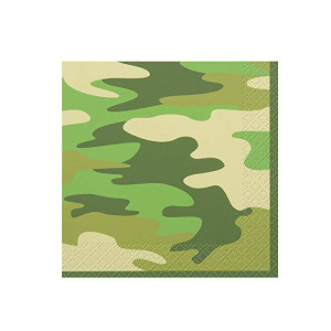 Camo Military Beverage Napkins (16)