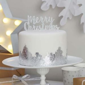 Christmas Metallics - Merry Christmas Cake Topper