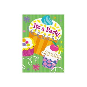 Cupcake Party Invitations (8)