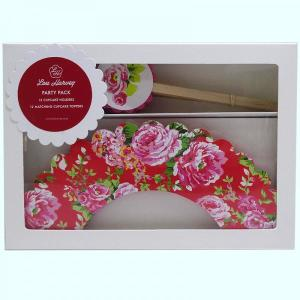 Red China Rose Cupcake Decorating Kit (24pc)