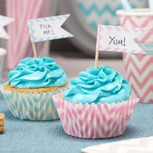Chevron Divine - Cupcake Sticks