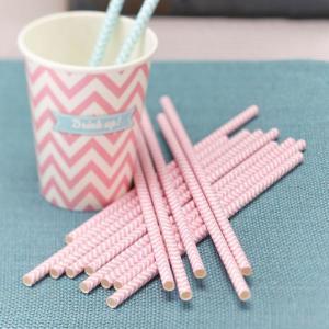 Chevron Divine - Paper Straws - Pink