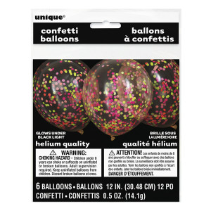 Neon Confetti Balloons (6)