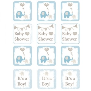 Elephant Baby Shower - Cupcake Toppers (12)