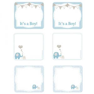 Elephant Baby Shower - Design Tags (8)