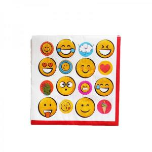 Emoji Faces Beverage Napkins (16)
