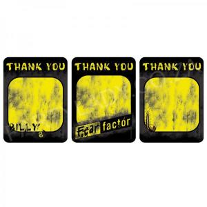 Fear Factor Party - Thank You Cards (8)