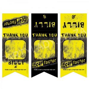 Fear Factor Party - Thank You Gift Bag Tags (8)