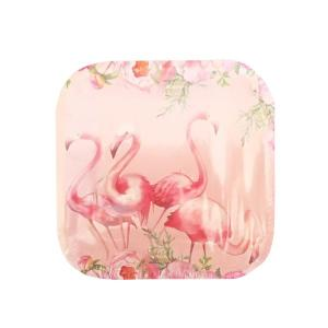 Floral Flamingo Plates Small (10)