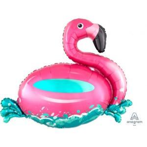 Floating Flamingo Supershape Foil Balloon