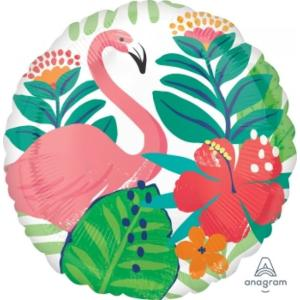 Flamingo Tropical Jungle Foil Balloon 17 inch
