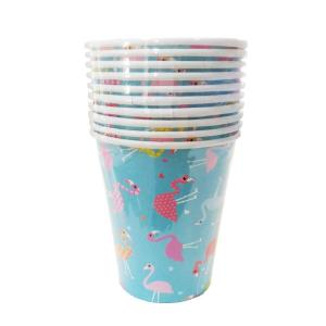 Funky Flamingo Paper Cups (10)