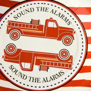 Fire Truck Vintage Plates (8)