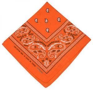 Orange Cowboy Bandanna