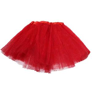 Glitter Tutu Kiddies Size 30cm- Red