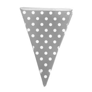 Grey Dotted Paper Flag Bunting