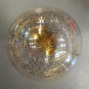 PVC Balloon with gold glitter confetti